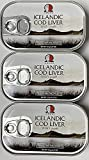 Wild Cod Liver Canned From Iceland 4.27oz pack of 3