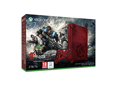 Xbox One S 2 Tb Rossa + Gears of War 4 [Bundle Limited Serigrafato]