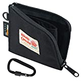 Rough Enough Small Slim Wallet Coin Purse Pouch Holder Case for Teen Boys Men EDC Front Pocket Minimalist Wallet with Zip Coin Pocket in Black Cordura