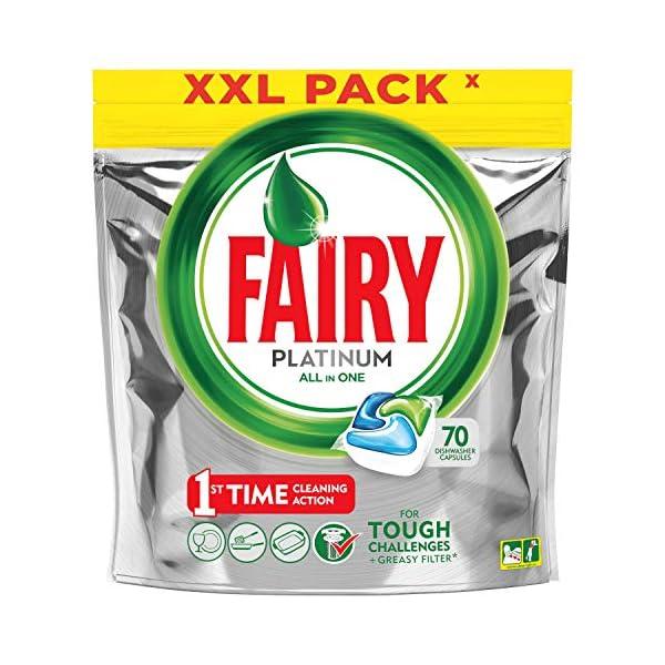 Fairy Platinum – Cápsulas de lavavajillas, pack 70