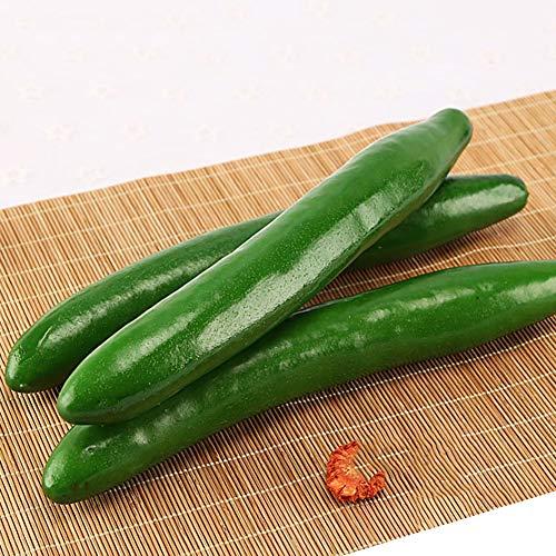 BHSHUXI Künstliche Gurke, künstliche grüne Gurke, lebensecht, für Heimdekoration, 8 Stück