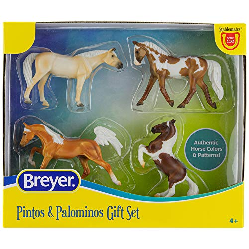 Breyer Horses Stablemates Pintos & Palominos Collection | 4 Horse Set | 1:32 Scale | 3.75