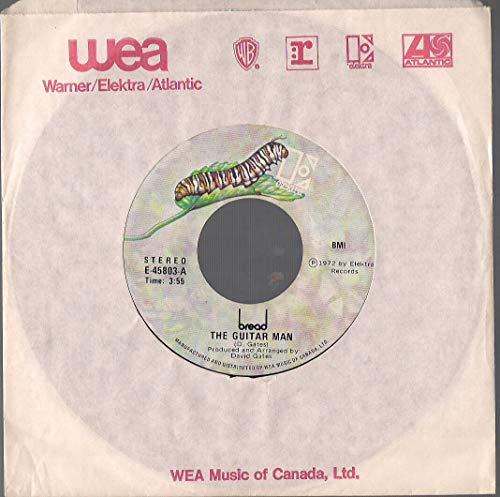 Bread: The Guitar Man / Just Like Yesterday 7' 45 VG++ Canada Elektra E-45803