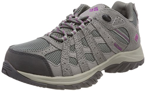 Columbia Canyon Point, Zapatillas de Senderismo Mujer, Gris, Violeta (Charcoal, Intense Violet),...