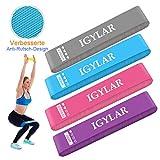 IGYLAR Fitnessbänder Theraband Rutschfest 4er Set Gymnastikband mit Tragebeutel Trainingsband