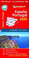 Spain & Portugal - High Resistance National Map 794 (Michelin National Maps)