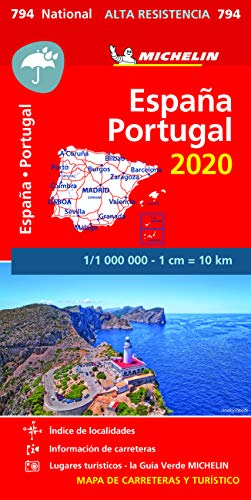 Mapa National España - Portugal 2020  Alta Resistencia  (Mapas National Michelin)