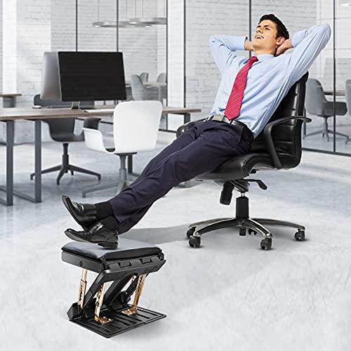 KKTECT Fußstütze mit Abnehmbarem Weichem Fußstützenpolster, Höhenverstellbar rutschfeste kreative Fußstütze mit Massageperlen für Auto, unter Schreibtisch, Zuhause, Büro