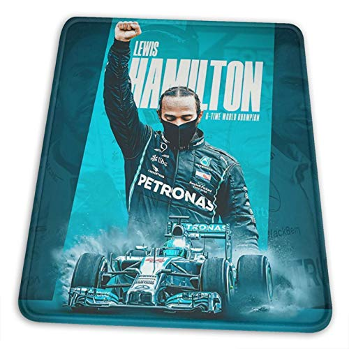 FGHFGHF Lewis Hamilton Mouse Pad with Stitched Edge, Premium-Textured Mouse Mat, Non-Slip Rubber Base Mousepad for Laptop,Computer & PC,Multiple Sizes