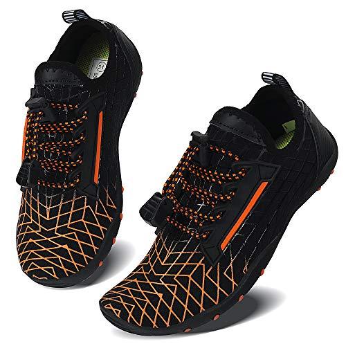 Vivay Zapatos acuáticos de secado rápido para niños y niñas, para natación, buceo, surf, deportes acuáticos, color, talla 35