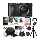 Sony Alpha a6000 24.3MP Mirrorless Digital Camera with 16-50mm OSS Lens (Black) and Accessory Bundle