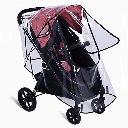 Universal Waterproof Cover,CUBACO Weather & Insect Shield Baby Stroller Weather Shield, Baby Rain Cover, Universal Size,Travel Umbrella Stroller Wind Dust Shield, Food Grade EVA