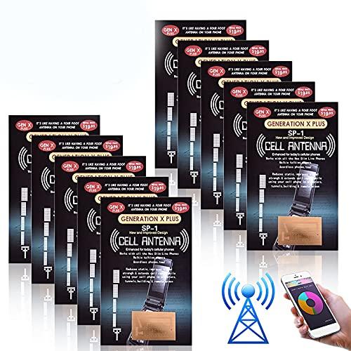 Phone Signal Enhancement, Vangonee 10Pcs Antenna Booster Compact Improve Signal Antenna Booster Sticker Tool for Outdoor Camping