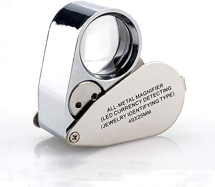 宝石類の識別手持ちの虫眼鏡光学顕微鏡が付いている40回のお金の探知器HD小型LED