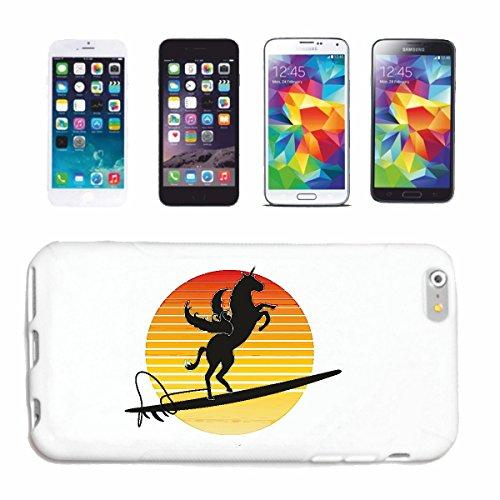 Reifen-Markt Handyhülle kompatibel für iPhone 7+ Plus Pegasus BEIM SURFEN AUF EINEM Surfbrett Sonnenuntergang Pferd Einhorn Hardcase Schutzhülle Handy Cover Smart