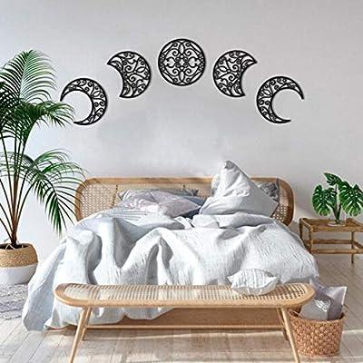 Estás viendo un juego completo de fase lunar para colgar en la pared para tu hogar Estos colgantes de pared de fase lunar son un complemento perfecto para cualquier habitación de los amantes de la luna y son una gran pieza de decoración espiritual Es...