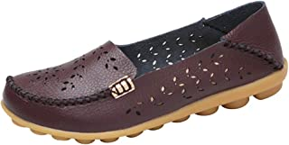 Women's Comfortable Shoes Loafer Casual Leather Natural Driving Fashion Flats Breathable Nurse Walking Ladies Slip On Shoes