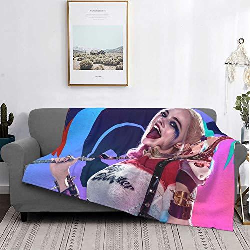 S-Uicide S-Quad Mantas, manta de felpa ultra suave, mantas de forro polar para sofá cama y sala de estar de 156 x 150 cm