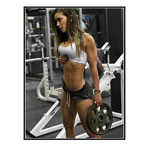 Chihie Anllela Sagra Bodybuilding Poster Picture Backdrop Wall Decor Home Living Room Bedroom Decoration -20X28InchNoFrame1Pcs