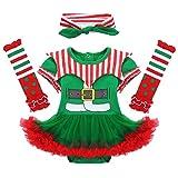 iixpin Vestito Natalizio Neonata Babbo Natale Pagliaccio Costume da Elfo Carnevale Travestimenti...