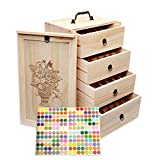 Essential Oil Storage for 96 Bottles - Holds 5 10 15 20 30 ml Travel Box For Young Living & Doterra bottles - Essential Oil Box