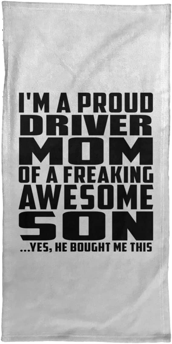 Long Beach Mall Designsify Proud Driver Mom of Awesome Son Towel 15x30 - in Max 69% OFF Hand