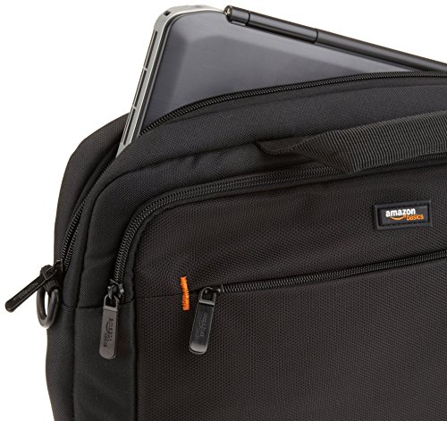 AmazonBasics 11.6-Inch Laptop and iPad Tablet Shoulder Bag Carrying Case, Black, 1-Pack
