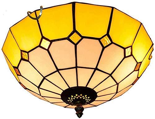 Wtbew-u Lámpara de techo, luz de techo, luz de techo, 12 pulgadas, magnolia de cristal, para dormitorio, restaurante, café, lámparas de techo