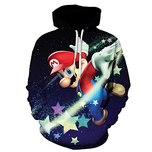 3D Child Unisex Hoodies, Game Super Mario Bros 3D Printed Hoodie Sweatshirt, Children Sweater Boys Coat Girls Outerwear Jacket Sweatshirt-A_3XL