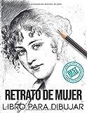 Retrato de mujer libro para dibujar: siluetas para dibujar paso a paso