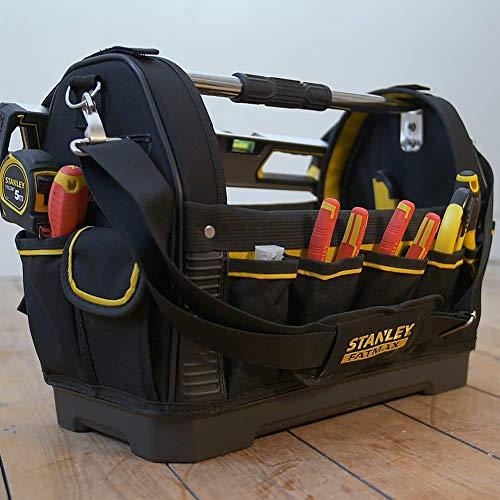Stanley FatMax Werkzeugtrage, 48x33x22cm, 600 Denier Nylon, wasserdichter Kunststoffboden, ergonomischer Gummigriff, Rahmen stahlverstärkt, verstellbarer Schultergurt, 1-93-951 - 7