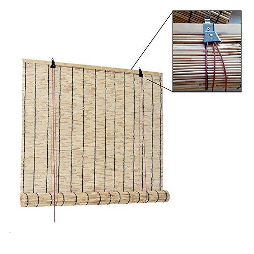 XYNH Persiana Estor Enrollable De Bambú Natural-Toldo Vertical-para Interiores-Exteriores-Sombra-Aislamiento Térmico-Estores Bambú Cortina De Madera
