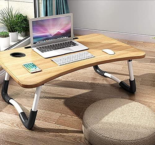 Lapdesk Mesa para ordenador portátil, plegable, mesa de cama para leer, bandeja...