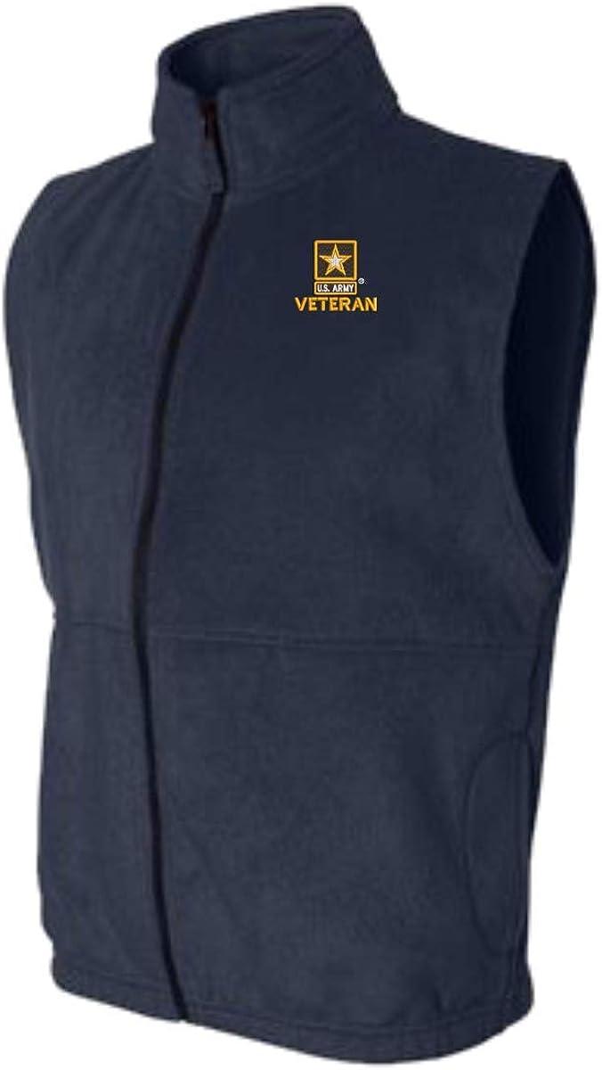 U.S. Army Star Logo Veteran Sierra Pacific Full-Zip Fleece Vest