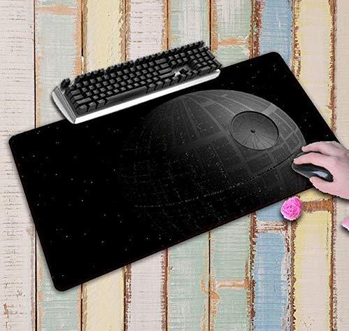 RKZM Alfombrilla para computadora Star Wars Space Gaming Alfombrilla para ratón Gamer Alfombrilla Grande Teclado Alfombrilla para computadora Alfombra 800 * 300 * 3Mm
