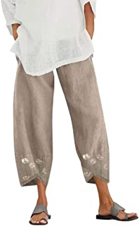 Pantalones Harem Holgados de Moda para Mujer Pantalones de Cintura Media Pantalones clásicos con Estampado de pie de Gato Pantalones Casuales para Bailar Correr Trotar Ocio