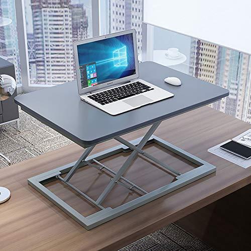 GSKJ Altura Ajustable Standing Desk,Sentarse Elevable Mesa De Ordenador,Pc Laptop Desk,Rango De Elevación40-400mm,Carga hasta 11.3 KG - Casa U Oficina-Plata Actualizar