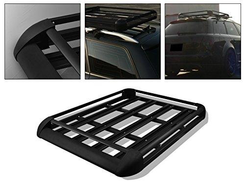 R&L Racing 50' Black Roof Rack Heavy Duty Aluminum Baca Basket Car Top Cargo Luggage Carrier Storage CA1
