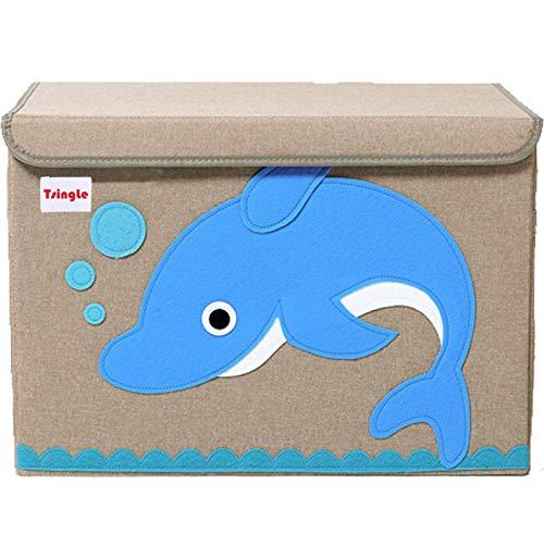 LOMOS caja para juguetes con diferentes motivos de animales y mucho espacio para almacenar 30x 30x 30cm