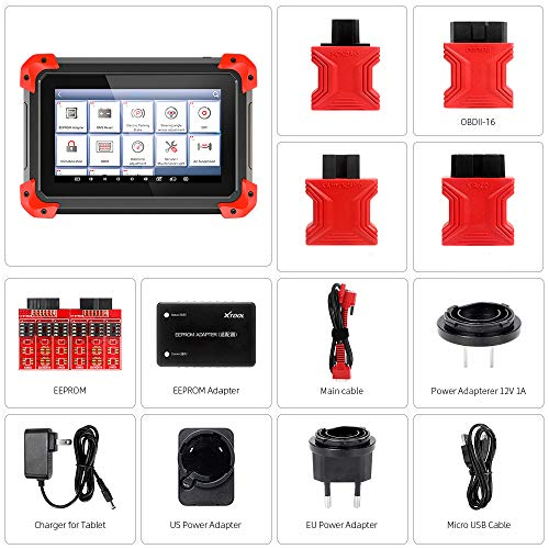 XTOOL X100 PAD OBD2 Diagnostic Tool Auto Key Programmer with 12 Service Reset Mileage/TPMS/EPB/DPF Update Online