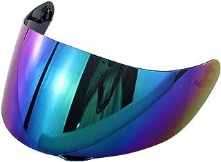 Shentesel Full Face Motorcycle Motorbike Helmet Lens Visor for LS2 FF352 FF351 FF369 FF384 - Rainbow