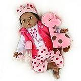 CHAREX Reborn Baby Dolls, 22 Inch Black African American Reborn Baby Doll Girl, Lifelike Realistic Silicone Reborn Baby Dollsfor Age 3+