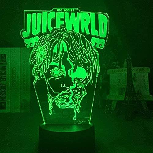 Lámpara de ilusión LED 3D Wark USB Anime Decoración para el hogar Fans Halloween-con control remoto