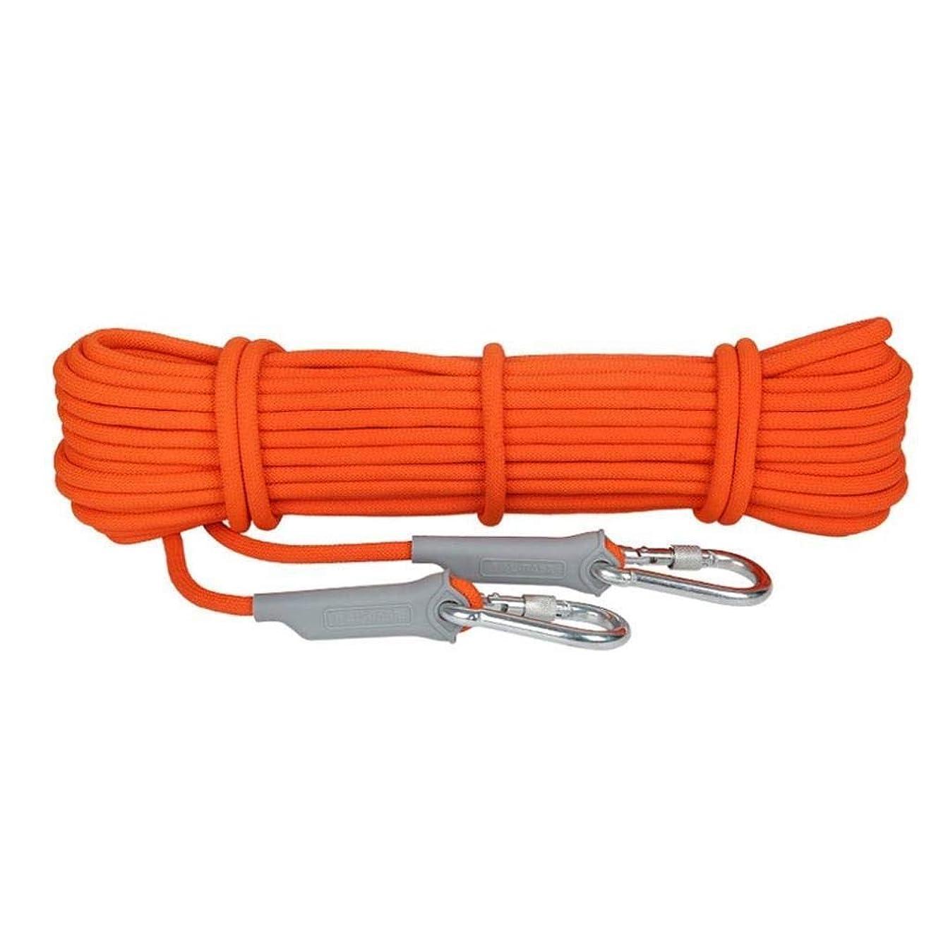 災害メロディアス信じられない登山ロープの家の火の緊急脱出ロープ、ハイキングの洞窟探検のキャンプの救助調査および工学保護のための多機能のコードの安全ロープ。 (Color : 8.5mm, Size : 15m)