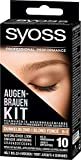 SYOSS Augenbrauen-Kit permanente Augenbrauenfarbe 6-1 Dunkelblond, natürlicher Look, 1er Pack (1 x...