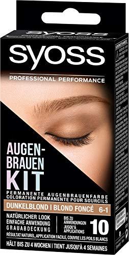 SYOSS Augenbrauen-Kit permanente Augenbrauenfarbe 6-1 Dunkelblond, natürlicher Look, 1er Pack (1 x 17 ml)