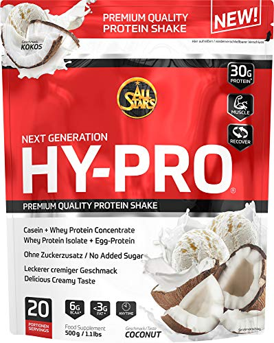 All Stars Hy-Pro Protein, Coconut, 1er Pack (1 x 500 g)
