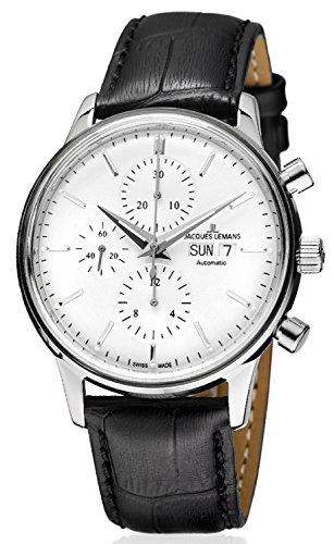 Jacques Lemans Orologio da uomo con cronografo, automatico, ETA Valjoux...