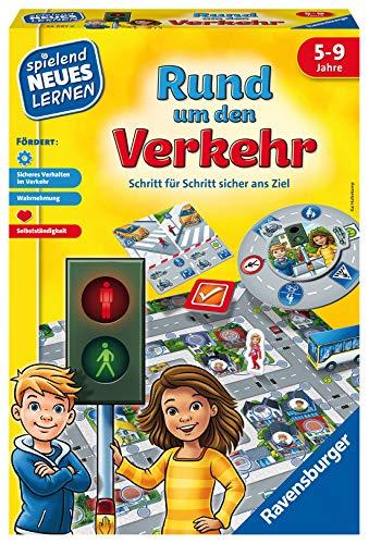 Ravensburger Kinderspiele Verkehrsspiel: Rund um den Verkehr Ravensburger Lernspiel 24997-Lernspiel 24997, Kinderspiel, ab 5 Jahren, für 2-4 Spieler