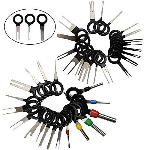 GTIWUNG 38 Piezas Juego de Herramientas de extracción de terminales automáticos, Kit de extractores de Cables eléctricos para reparación de Coches